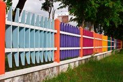 Kolorowy ogrodzenie Fotografia Royalty Free