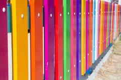 Kolorowy ogrodzenie Fotografia Stock