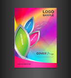 kolorowy Okładkowy projekta szablon Fotografia Stock