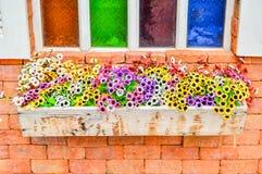 Kolorowy okno Fotografia Royalty Free