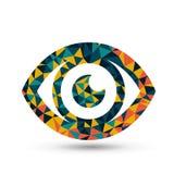 Kolorowy oko trójboka wzoru projekt royalty ilustracja