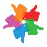 Kolorowy okręgu kciuk w górę ikon Obraz Royalty Free