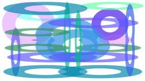 kolorowy okręgu projekt różni rozmiary ilustracja wektor