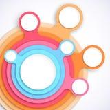 Kolorowy okrąg sieci szablon Zdjęcia Royalty Free