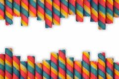 Kolorowy opłatkowy rolka kij z odizolowywa Zdjęcia Stock