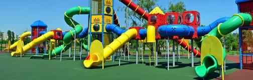 kolorowy opróżnia parkowego boisko Zdjęcie Stock