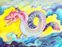Kolorowy Orientalny smok Obrazy Royalty Free