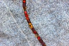 Kolorowy ornament na kamieniu Fotografia Royalty Free
