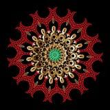 Kolorowy ornamentacyjny grecki mandala wz?r Wektor deseniuj?cy woko?o kwiecistego ornamentu Elegancja baroku stylu rocznika kwiat ilustracja wektor