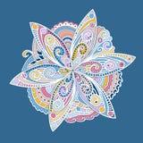 Kolorowy ornamentacyjny round kwiat royalty ilustracja