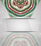 Kolorowy ornamentu płatek śniegu Fotografia Stock