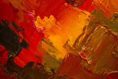 Kolorowy oryginalny abstrakcjonistyczny obraz olejny, tło Zdjęcie Royalty Free