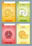 Kolorowy owoc sztandar dla app projekta 1 Fotografia Royalty Free