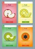 Kolorowy owoc sztandar dla app projekta 4 Obrazy Stock