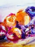 Kolorowy owoc t?o beak dekoracyjnego lataj?cego ilustracyjnego wizerunek sw?j papierowa kawa?ka dym?wki akwarela nowoczesna sztuk zdjęcie stock