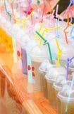 Kolorowy owocowy sok Zdjęcie Stock