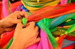 Kolorowy płótno dla pomyślności Obraz Royalty Free
