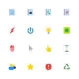 Kolorowy płaski sieci ikony set Fotografia Royalty Free