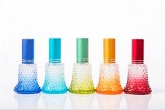 Kolorowy pachnidło butelki pakunek Obrazy Stock