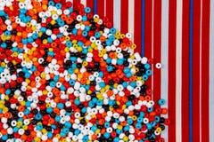 Kolorowy paciorkowaty tło Obrazy Stock