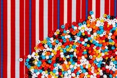 Kolorowy paciorkowaty tło Fotografia Stock