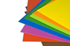 kolorowy papier Zdjęcie Stock