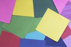 Kolorowy papier jako tło Fotografia Stock