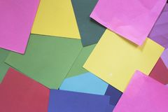 Kolorowy papier jako tło Obraz Royalty Free