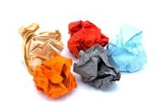 Kolorowy papier na odosobnionym Zdjęcie Stock