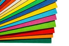 Kolorowy papier odizolowywający na białym tle Obraz Royalty Free