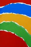 kolorowy papier rozdarty Obraz Royalty Free