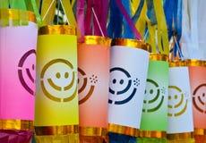 Kolorowy papierowy lampion Obrazy Stock