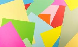 Kolorowy papierowy nasunięcie jako geometryczny deseniowy tło Fotografia Stock