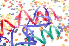 kolorowy papierowy streamer Zdjęcia Stock