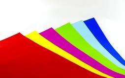 Kolorowy papierowy tło Fotografia Stock
