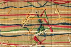 Kolorowy papierowy weave Obrazy Royalty Free