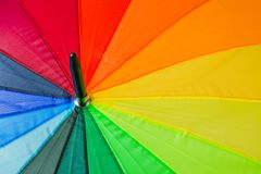 Kolorowy parasol - fashon tło Zdjęcia Stock