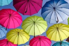 Kolorowy parasol na niebie Fotografia Royalty Free
