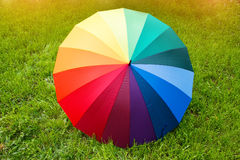 Kolorowy parasol outdoors Obraz Royalty Free