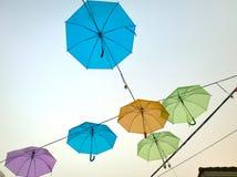 Kolorowy parasol w niebie Obraz Royalty Free