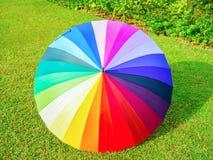 Kolorowy parasol w tęcza kolorze Obraz Stock