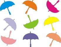 KOLOROWY parasol Z BIAŁYM tłem ilustracja wektor