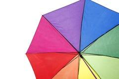 Kolorowy parasol z podeszczowymi kroplami Obrazy Stock