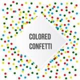 Kolorowy partyjny tło z confetti Zdjęcia Royalty Free