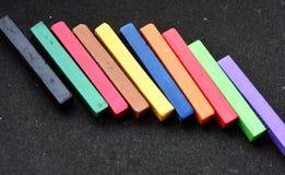 kolorowy pastel na czarnym tle Obraz Stock