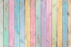 Kolorowy pastelowy drewno zaszaluje teksturę lub tło Obrazy Royalty Free
