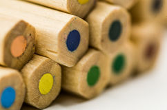 Kolorowy pencilson biały tło Zdjęcie Royalty Free