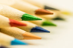 Kolorowy pencilson biały tło Obrazy Stock