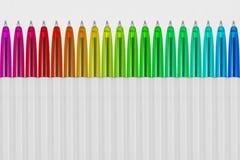 Kolorowy pióro ustawia, tkaniny tekstury tło/wielo- koloru, papieru/ Fotografia Stock