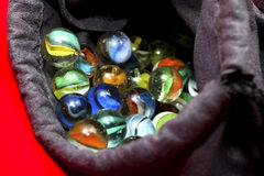 kolorowy piłka marmur Fotografia Royalty Free